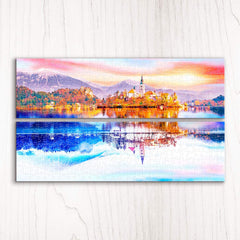 Puzzle Pintoo. Canvas 432. Beautiful Lake Bled, Slovenia