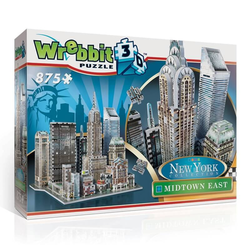 Puzzle 3D Wrebbit - New York. Midtown East  - 875 piezas