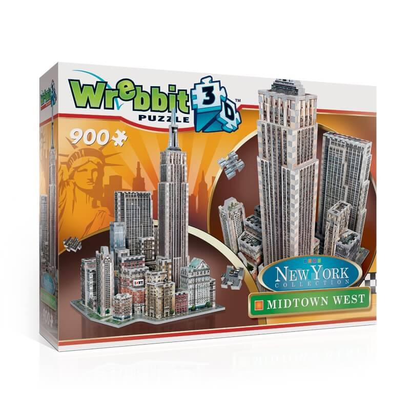 Puzzle 3D Wrebbit - New York. Midtown West  - 900 piezas