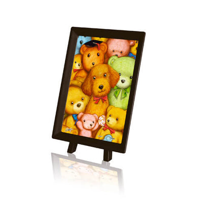 Puzzle Pintoo XS - SMART. Poodle and Teddy Bears. 150 piezas