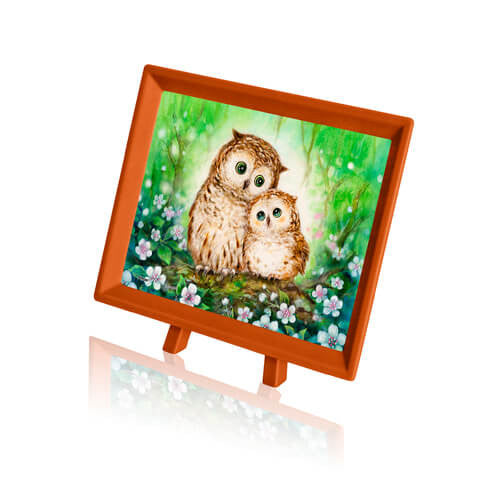 Puzzle Pintoo - XS - Kayomi - Owls in Green Forest. 150 piezas