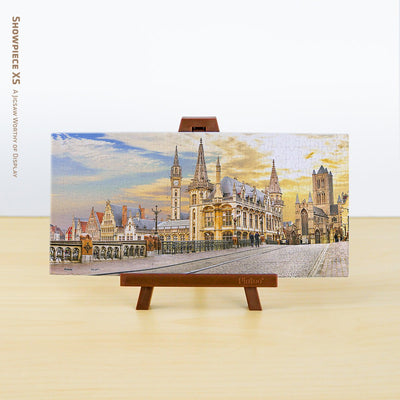 Puzzle Pintoo XS 253 - Beautiful Medieval Ghent Over Sunset