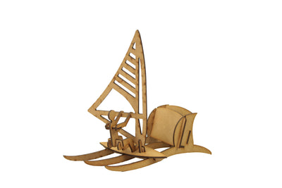 Maqueta 3D Wood Models - Portalápices Windsurf