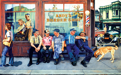 Puzzle SunsOut - Andy's Barber Shop. 300 piezas XXL