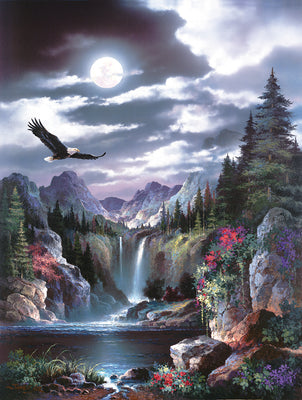 Puzzle SunsOut - James Lee - Moonlit Eagle. 300 piezas XXL