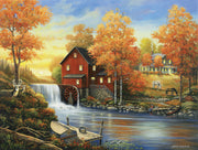 Puzzle SunsOut - John Zaccheo - Sunset at the Old Mill. 300 piezas XXL