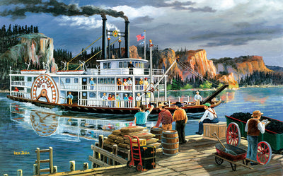 Puzzle SunsOut - Ken Zylla - Riverboat. 300 piezas XXL