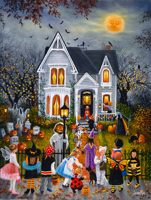 Puzzle SunsOut - Susan Rios - Scary Night. 300 piezas XXL