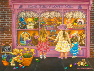 Puzzle SunsOut - Tricia Reilly-Matthews -  Some Bunny Loves You. 300 piezas XXL