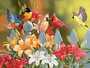 Puzzle SunsOut - William Vanderdasson - Birds on a Fence. 300 piezas XXL