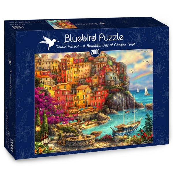Puzzle Bluebird Puzzle - A Beautiful Day at Cinque Terre. 2000 piezas-Bluebird Puzzle-Doctor Panush