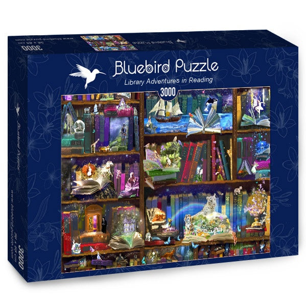 Puzzle Bluebird Puzzle - Library Adventures in Reading. 3000 piezas