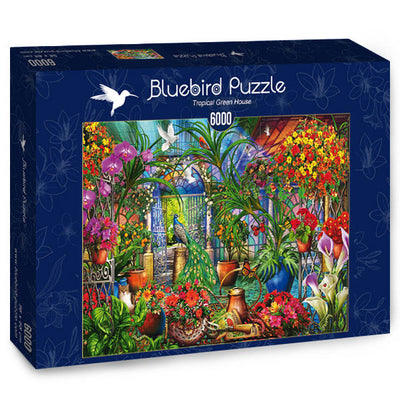 Puzzle Bluebird Puzzle - Tropical Green House. 6000 piezas