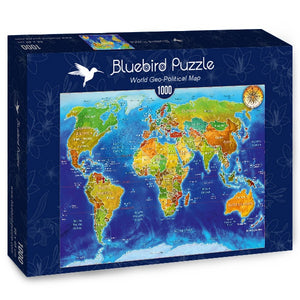 Puzzle Bluebird Puzzle - World Geo-Political Map. 1000 piezas-Puzzle-Bluebird Puzzle-Doctor Panush