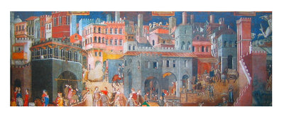 Puzzle Impronte Edizione - Lorenzetti - The Allegory of Good and Bad Government. 1000 piezas-Puzzle-Art Puzzle-Doctor Panush