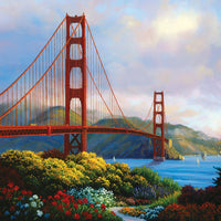 Puzzle SunsOut - Morning at the Golden Gate. 300 piezas XXL-SunsOut-Doctor Panush