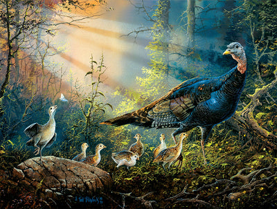 Puzzle SunsOut - Turkey in the Sun Rays. 300 piezas XXL