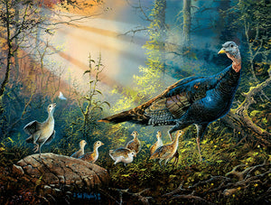 Puzzle SunsOut - Turkey in the Sun Rays. 300 piezas XXL-SunsOut-Doctor Panush