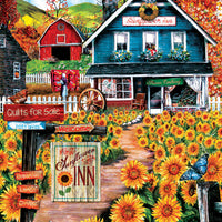 Puzzle SunsOut - Welcome to the Sunflower Inn. 300 piezas XXL-SunsOut-Doctor Panush