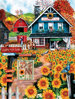 Puzzle SunsOut - Welcome to the Sunflower Inn. 300 piezas XXL