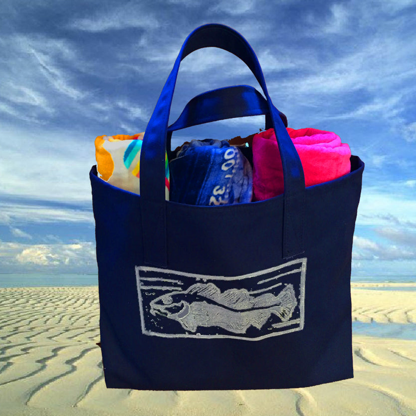 Salty Cod Canvas Tote Bag
