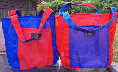 Custom - Pair of Salt & Pepper Shopping Bags * In Your colors