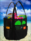 Mesh Whale Bag® with Waterproof Fabric Base * Black
