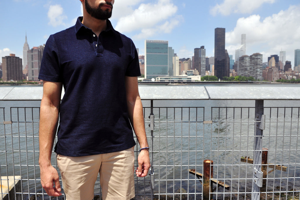 Spectre & Co. Knit Polo Navy Blue