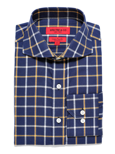 Slim Fit Agency Check Cutaway Dress Shirt