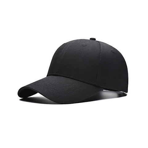 Black Cotton Twill Baseball Cap