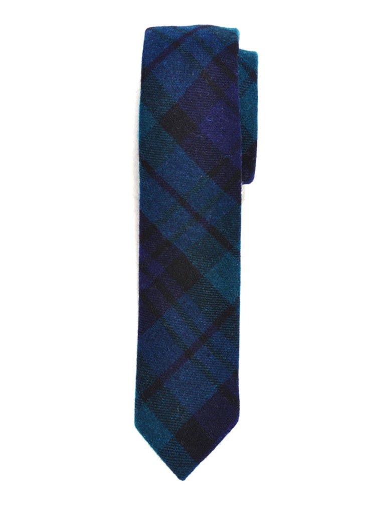 Blackwatch Plaid Wool Tie