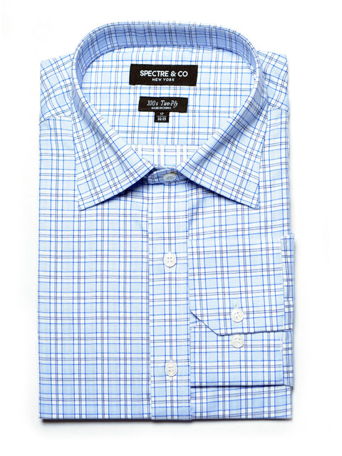 Blue Check Dress Shirt