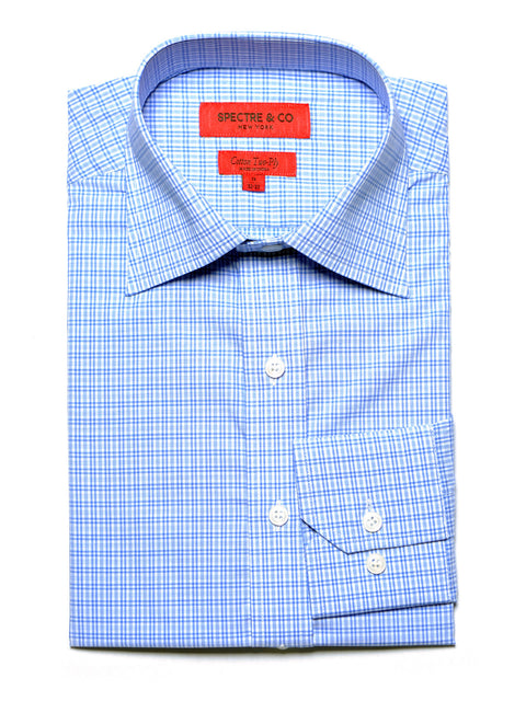 Blue Cross Check Dress Shirt