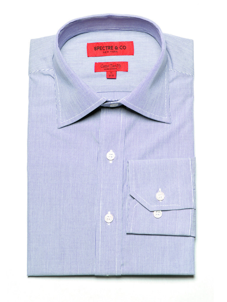 Slim Fit Blue Microstripe Dress Shirt