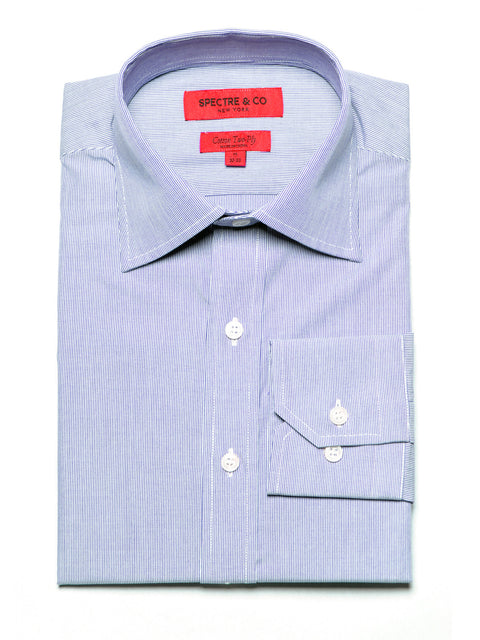 Blue Microstripe Dress Shirt