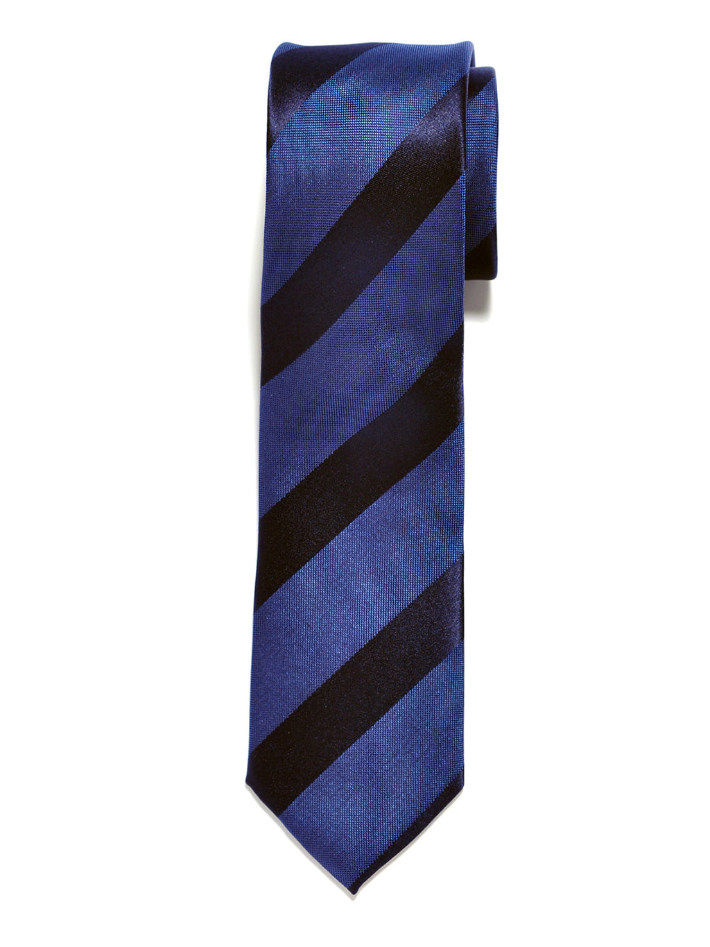 Blue Repp Stripe Silk Tie