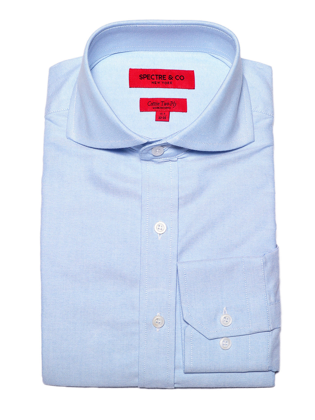 Slim Fit Washed Blue Oxford Cutaway Dress Shirt