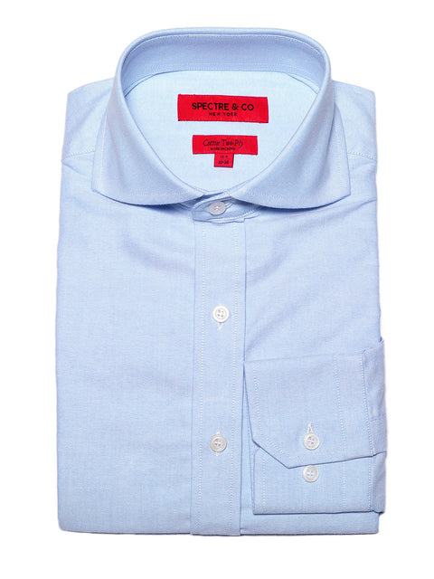 Washed Blue Oxford Cutaway Dress Shirt