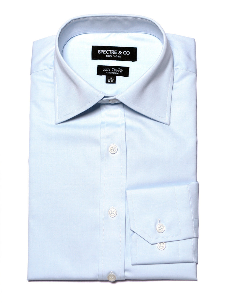 Blue French Cuff Dress Shirt