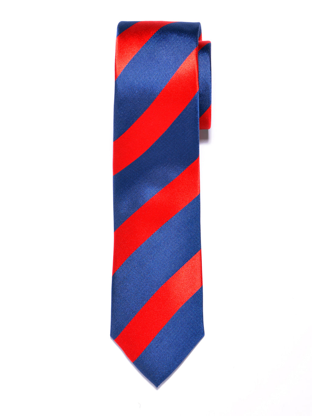 Blue and Red Repp Stripe Silk Tie