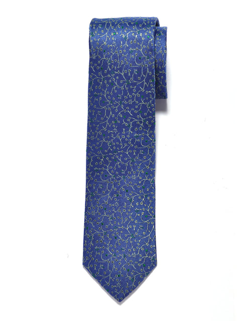 Blue Vineyard Floral Silk Tie