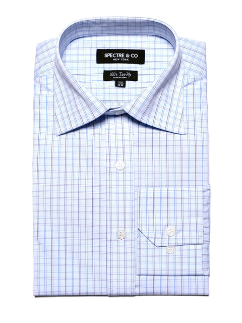 Blue Window Check Dress Shirt
