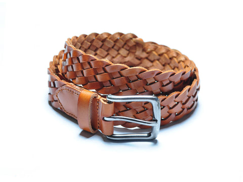 Light Brown Braided Belt