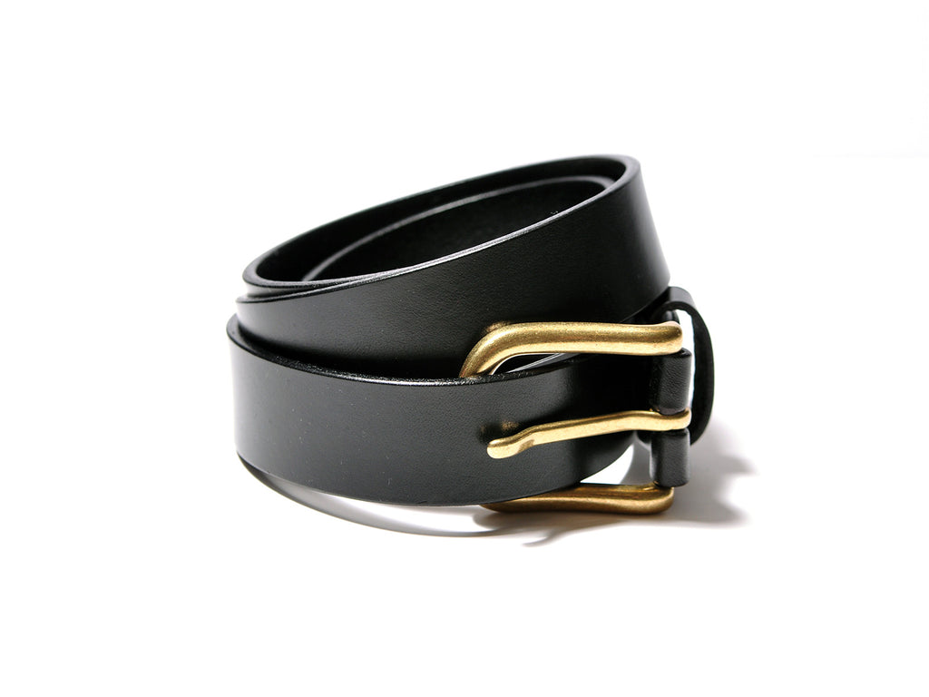 Black Brass Buckle Belt