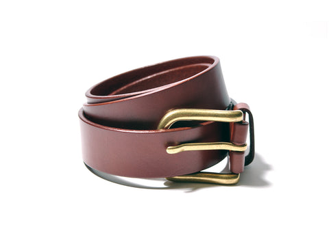 Brown Brass Buckle Belt
