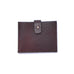 Brown Italian Leather Clasp Wallet