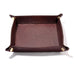 Brown Italian Leather Valet Tray