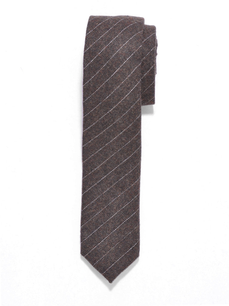 Brown Stripe Wool Tie