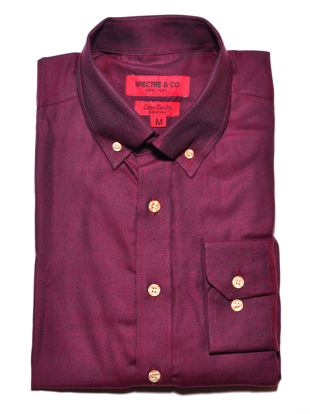 Burgundy Flannel Shirt