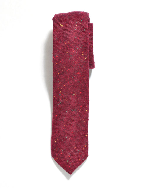 Burgundy Rainbow Tweed Wool Tie